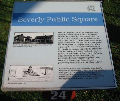 Beverly Public Square Marker image. Click for full size.