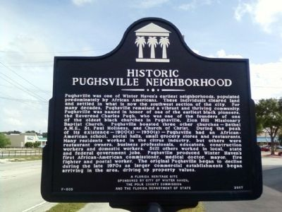 Historic Pughsville Neighborhood Marker image. Click for full size.