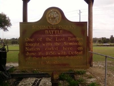 Seminole Indian Battle Marker image. Click for full size.