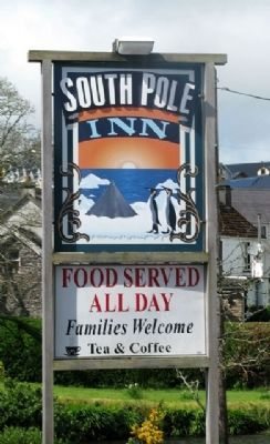 Tom Crean's South Pole Inn Sign image. Click for full size.