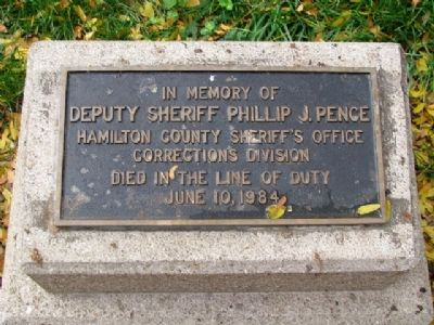 Deputy Phillip J. Pence Memorial image. Click for full size.