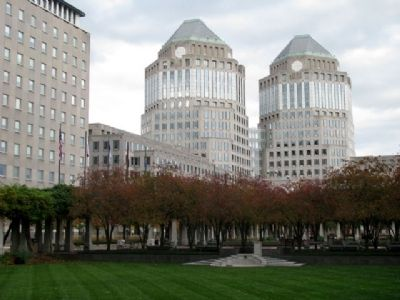 View of Procter & Gamble Headquarters from Marker image. Click for full size.