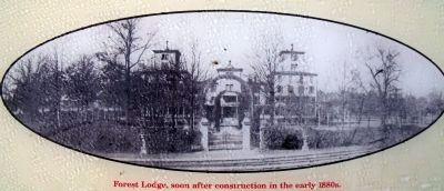 Forest Lodge, soon after construction in the early 1880s. image. Click for full size.