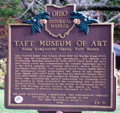 Taft Museum of Art Marker image. Click for full size.