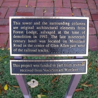 Forest Lodge Cupola Plaque image. Click for full size.