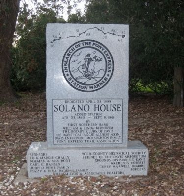 Solano House Marker image. Click for full size.