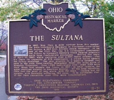 The <i>Sultana</i> Marker image. Click for full size.