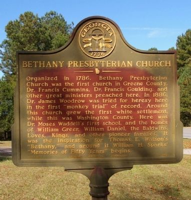 Bethany Presbyterian Church Marker image. Click for full size.