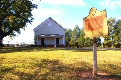 Bethany Presbyterian Church Marker and the Church image. Click for full size.