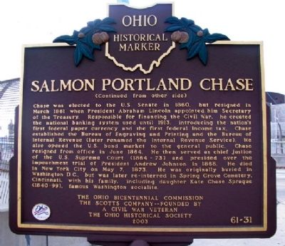 Salmon Portland Chase Marker (Side B) image. Click for full size.