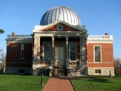 The Cincinnati Observatory's Herget Building image. Click for full size.