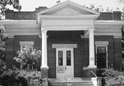 Hanna Levi Memorial Library / Manning Library image. Click for full size.