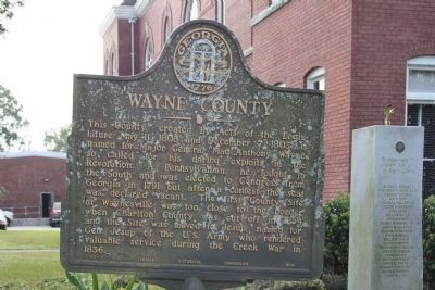 Wayne County and the Revolutionary War Memorial, right image. Click for full size.