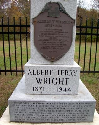 Albert Terry Wright Marker image. Click for full size.