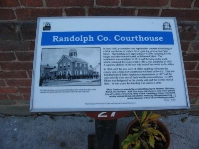 Randolph Co. Courthouse Marker image. Click for full size.