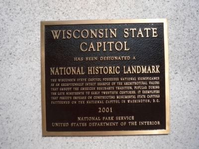 Wisconsin State Capitol Marker image. Click for full size.