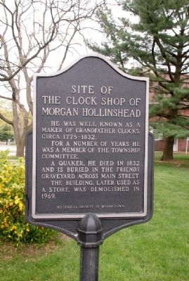 Morgan Hollinshead Clock Shop Site Marker image. Click for full size.