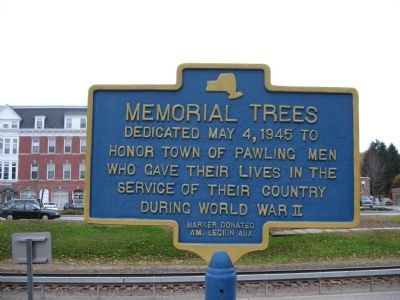 Memorial Trees Marker image. Click for full size.