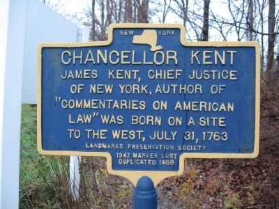 Chancellor Kent Marker image. Click for full size.