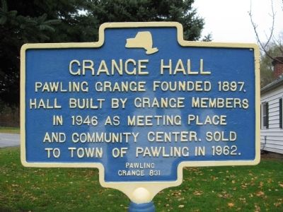 Grange Hall Marker image. Click for full size.