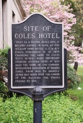 Site of Coles Hotel Marker image. Click for full size.