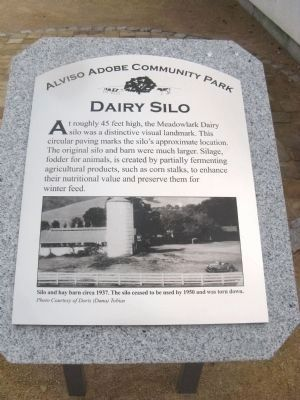 The Dairy Silo Marker image. Click for full size.