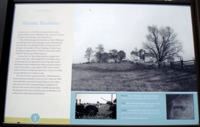 Historic Blenheim Marker image. Click for full size.