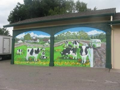 Mural at the Meadowlark Dairy in Downtown Pleasanton image. Click for full size.