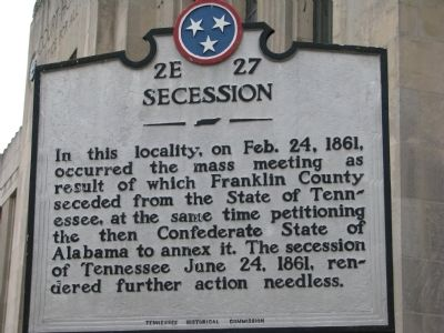 Secession Marker image. Click for full size.