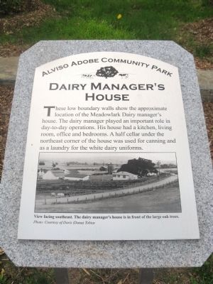 Dairy Manager's House Marker image. Click for full size.