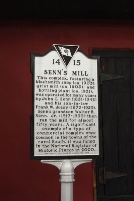 Senn's Mill Marker image. Click for full size.