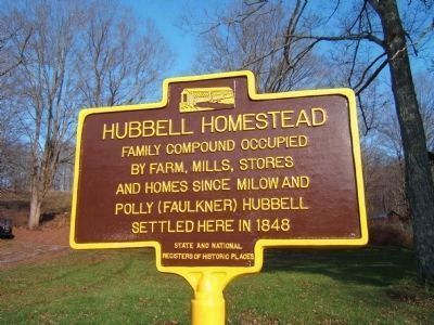 Hubbell Homestead Marker image. Click for full size.