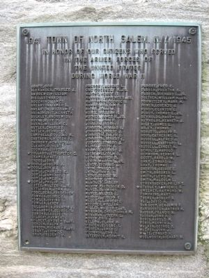 North Salem World War II Monument image. Click for full size.