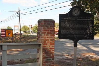 Raymond-Richardson Aviation School Marker, looking north image. Click for full size.