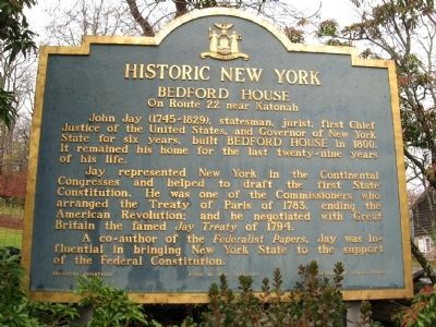 Historic New York Bedford House Marker image. Click for full size.