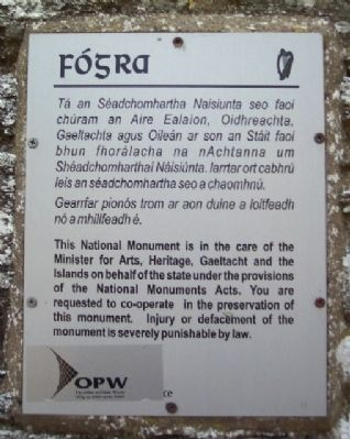 Standard OPW Heritage Protection Marker image. Click for full size.