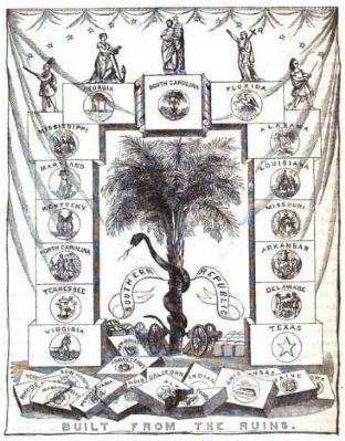 Secession Banner of the South Carolina Convention image. Click for full size.