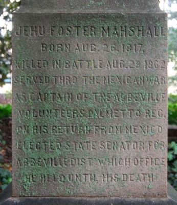 J. Foster Marshall Memorial image. Click for full size.