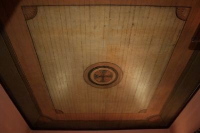 The Painted Ceiling In The Men's Parlor That Depicts A Billiard Table. image. Click for full size.