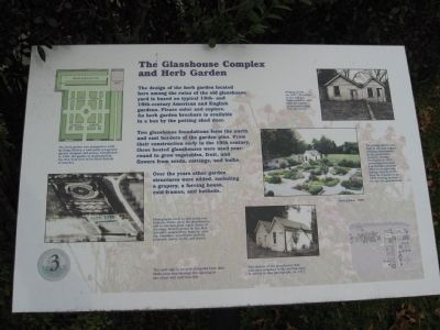 The Glasshouse Complex and Herb Garden Marker image. Click for full size.