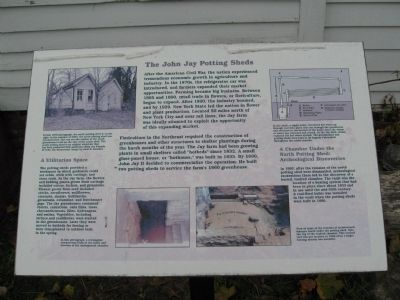 The John Jay Potting Sheds Marker image. Click for full size.
