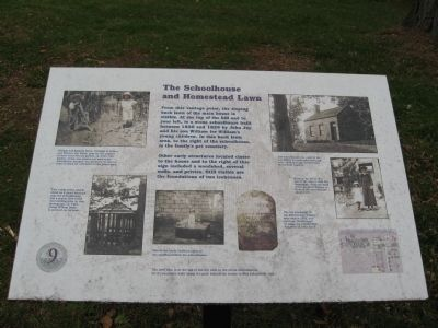 The Schoolhouse and Homestead Lawn Marker image. Click for full size.