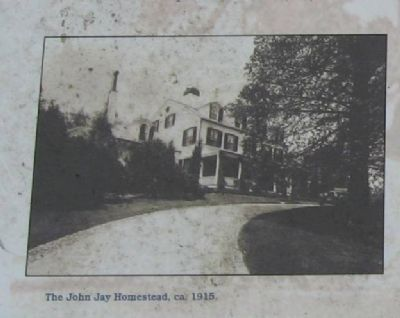 The John Jay Homestead, ca. 1915 image. Click for full size.