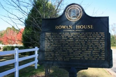 Rowan House Marker image. Click for full size.