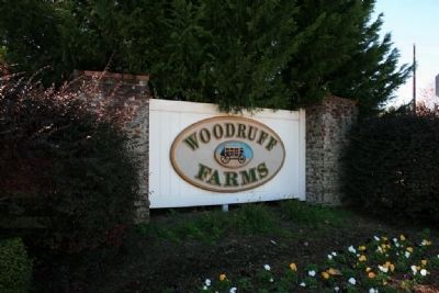 Woodruff Farms Sign Next To The Rowan House image. Click for full size.
