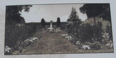 The Sundial Garden, ca. 1915 image. Click for full size.