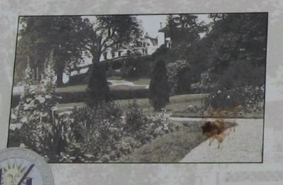 View of the Homestead from the garden, ca. 1915 image. Click for full size.