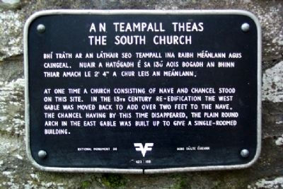 The South Church / An Teampall Theas Marker image. Click for full size.