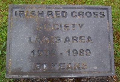 Irish Red Cross Society Marker image. Click for full size.