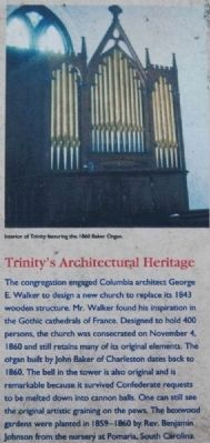 Trinity Episcopal Church Marker -<br>Trinity&#39;s Architectural Heritage image. Click for full size.
